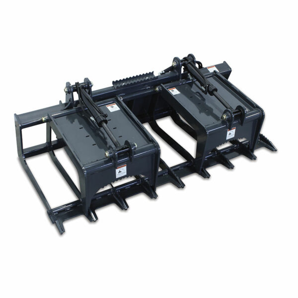 brush and root grapple closed 600x600 - Heavy Duty Root Grapple