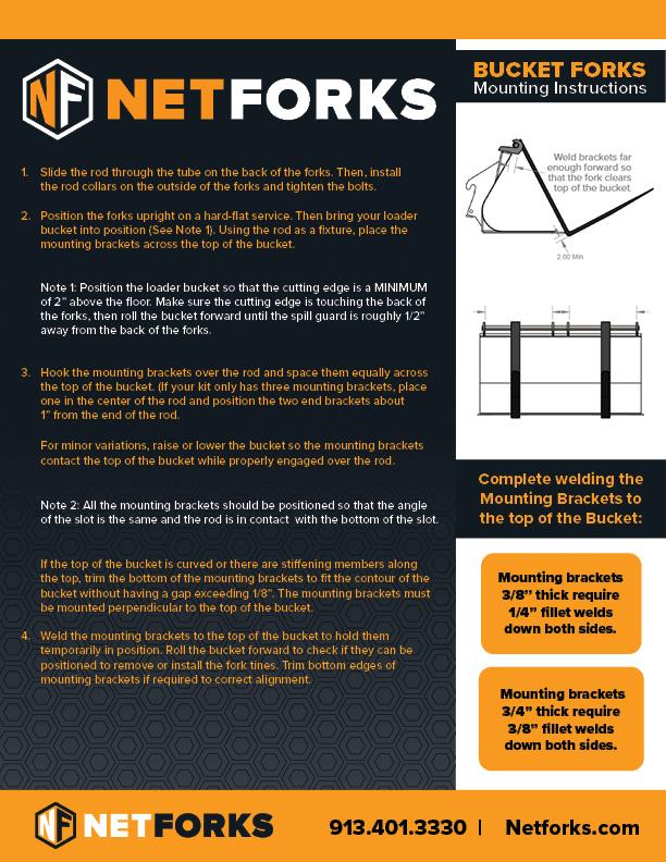Netforks Bucket Forks Mounting instructions web  - Bucket Forks