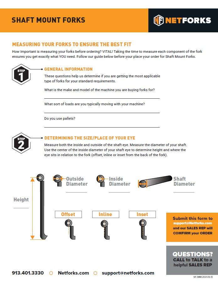 shaft mount forks - Shaft Mounted Forks